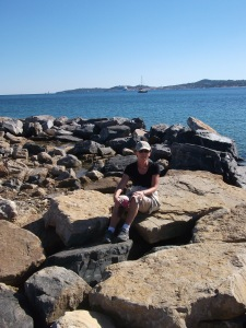 Jean's rock on the Port Grimaud walk